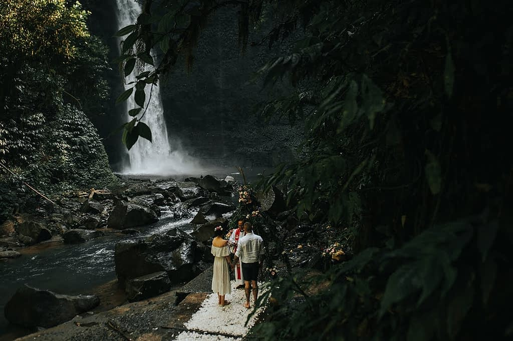 bali waterfall wedding by Bali Moon Wedding